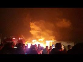 انفجار بخط أنابيب شركة طنطا للبترول في البحيرة بمصر