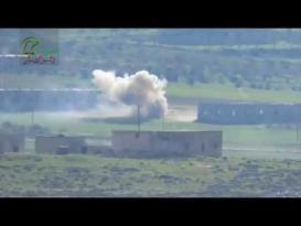 لحظة إصابة دبابة من طراز