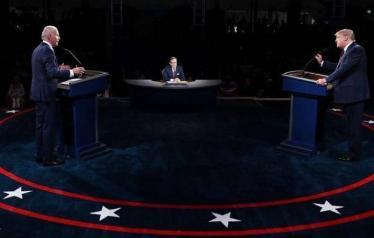 ترامب وبايدن.. تلاسن حاد خلال المناظرة