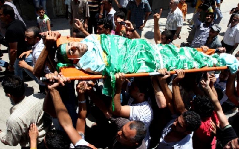 تشييع جثمان الشهيد إبراهيم سرحان