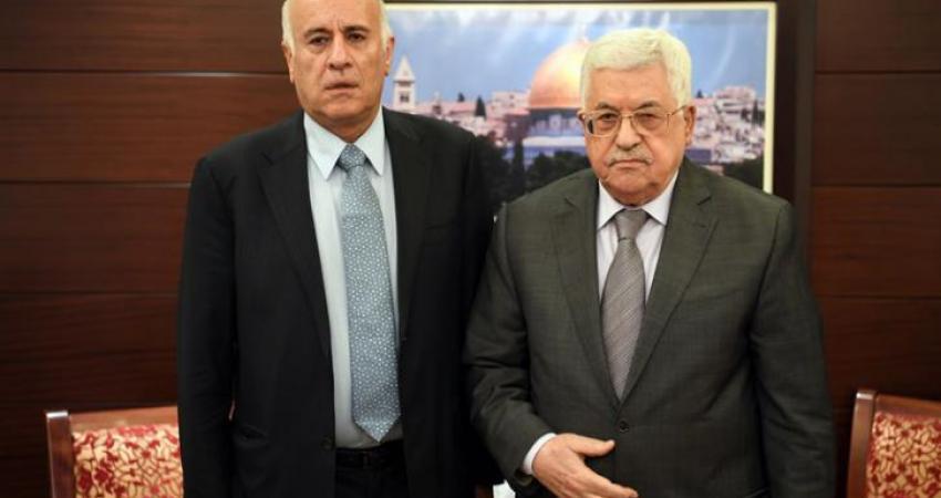 جبريل الرجوب ومحمود عباس