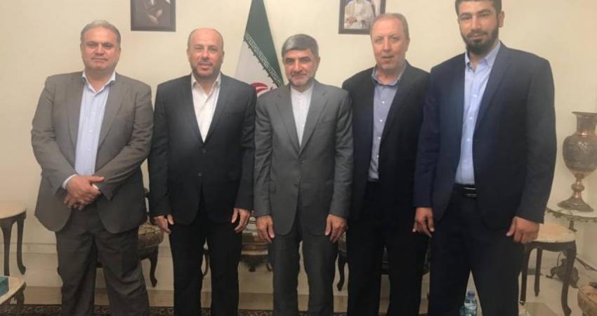 وفد من حماس يلتقي سفير إيران في لبنان