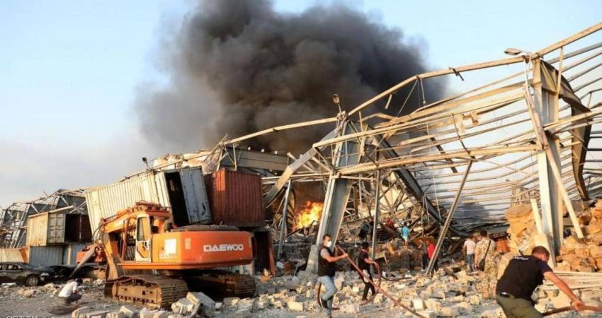 شهدت بيروت مساء اليوم انفجارا ضخما في أحد مخازن المفرقعات