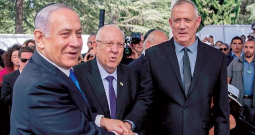 لقاء بين نتنياهو وغانتس لحل أزمة تشكيل حكومة الاحتلال