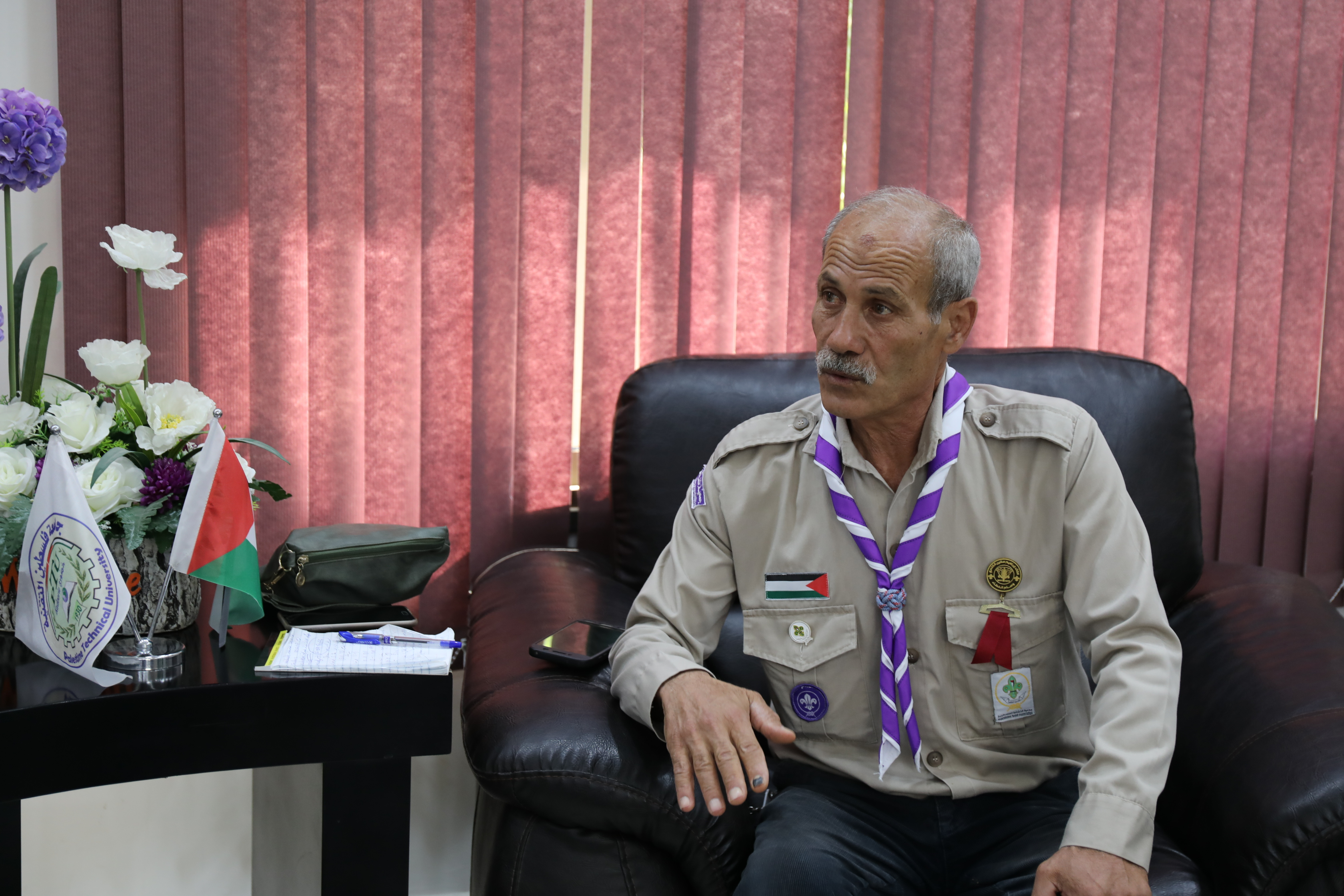 خضوري بحث سبل التعاون مع جمعية الكشافة الفلسطينية