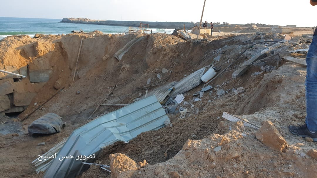 آثار الدمار الذي خلفه قصف الاحتلال على قطاع غزة