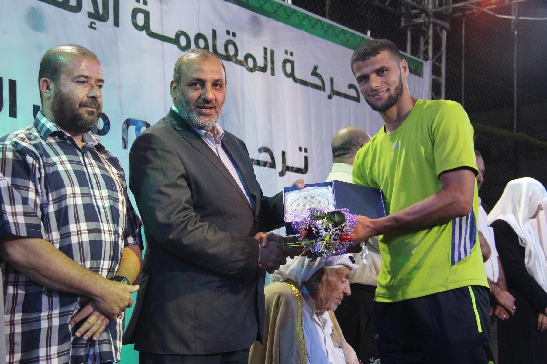 """حماس في النصيرات تنظم مهرجان """"رواد النصيرات"""" السنوي الأول"""
