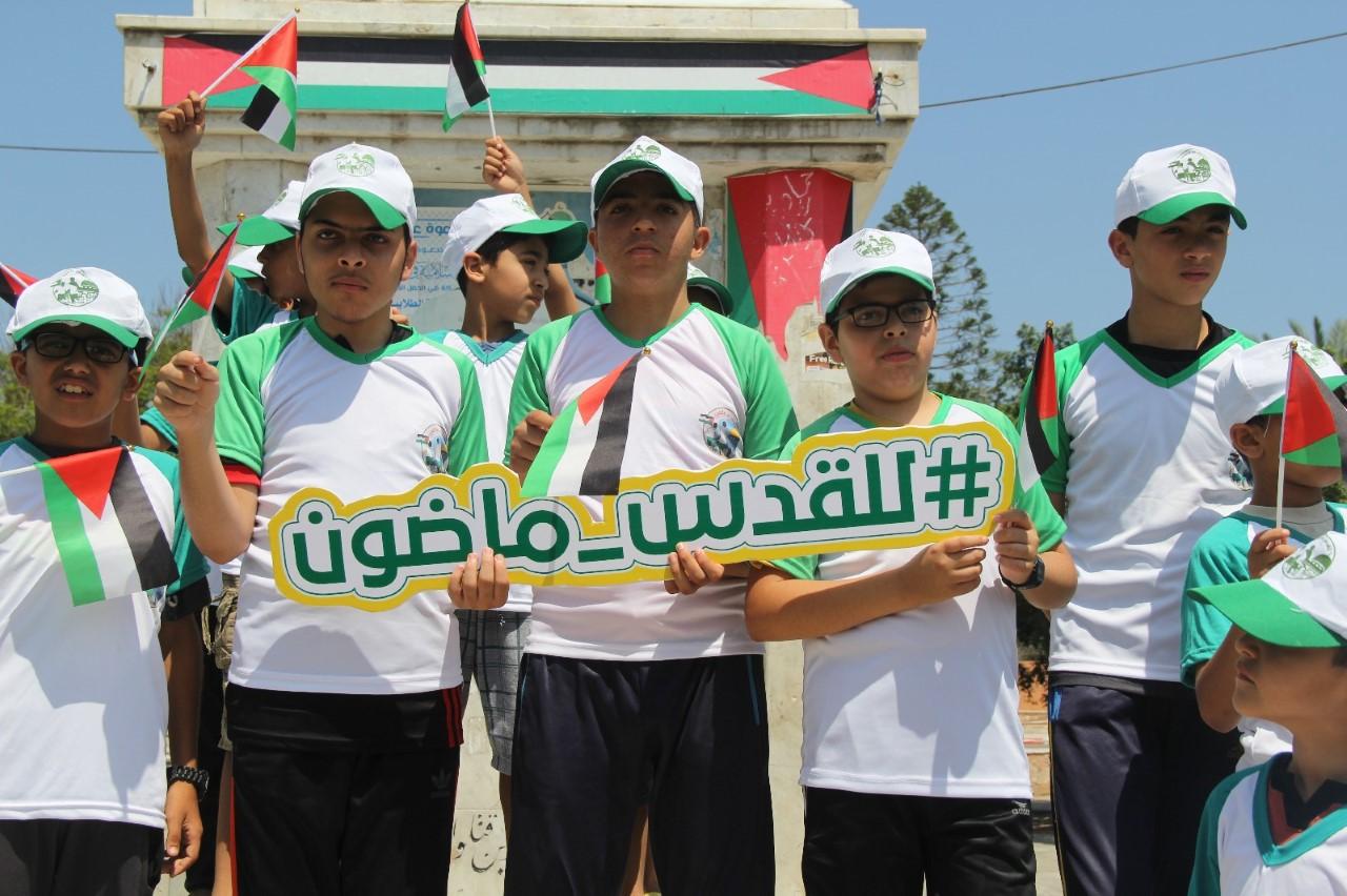 """""""حماس"""" وسط القطاع تطلق مخيمات للقدس ماضون بـ10000 طالب"""