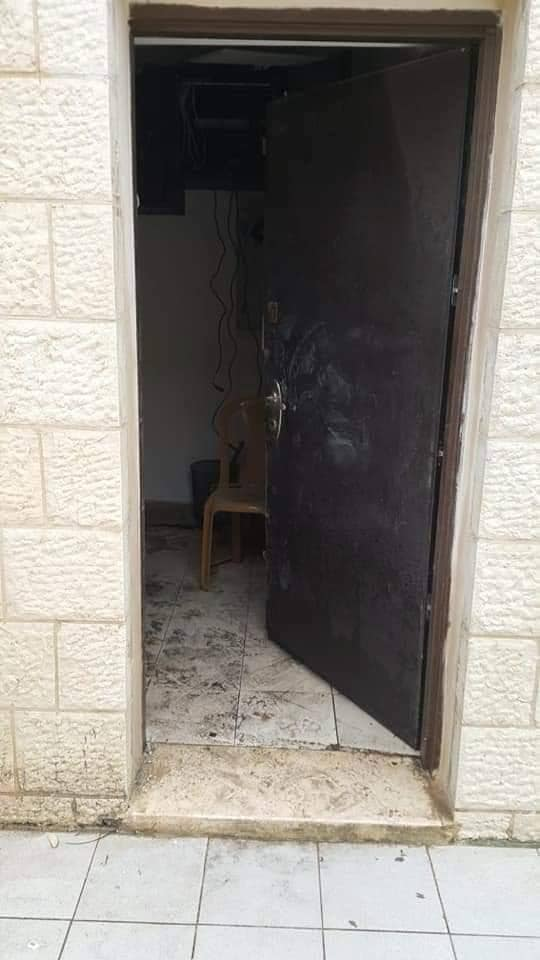 سرقة صراف آلي لبنك فلسطين برام الله