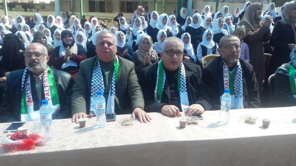 مديرية شمال غزة تكرّم الطالبات المتفوقات