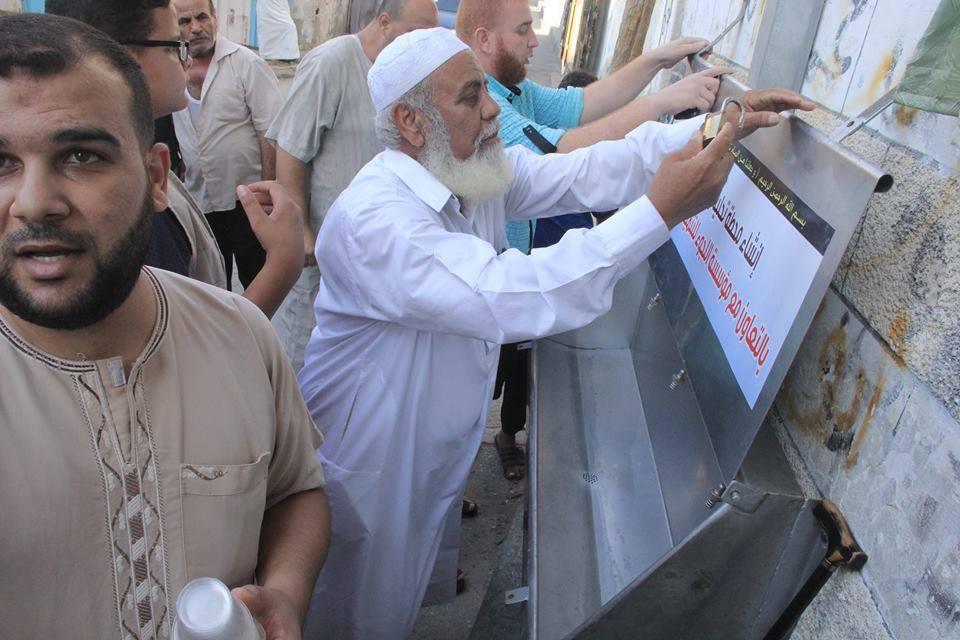 مسجد الرحمن في دير البلح يفتتح محطة تحلية