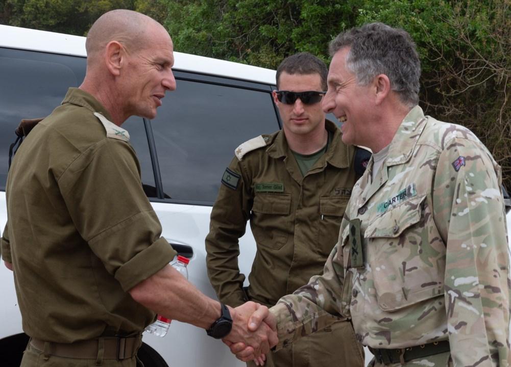"""رئيس أركان الجيش البريطاني يصل """"إسرائيل"""""""