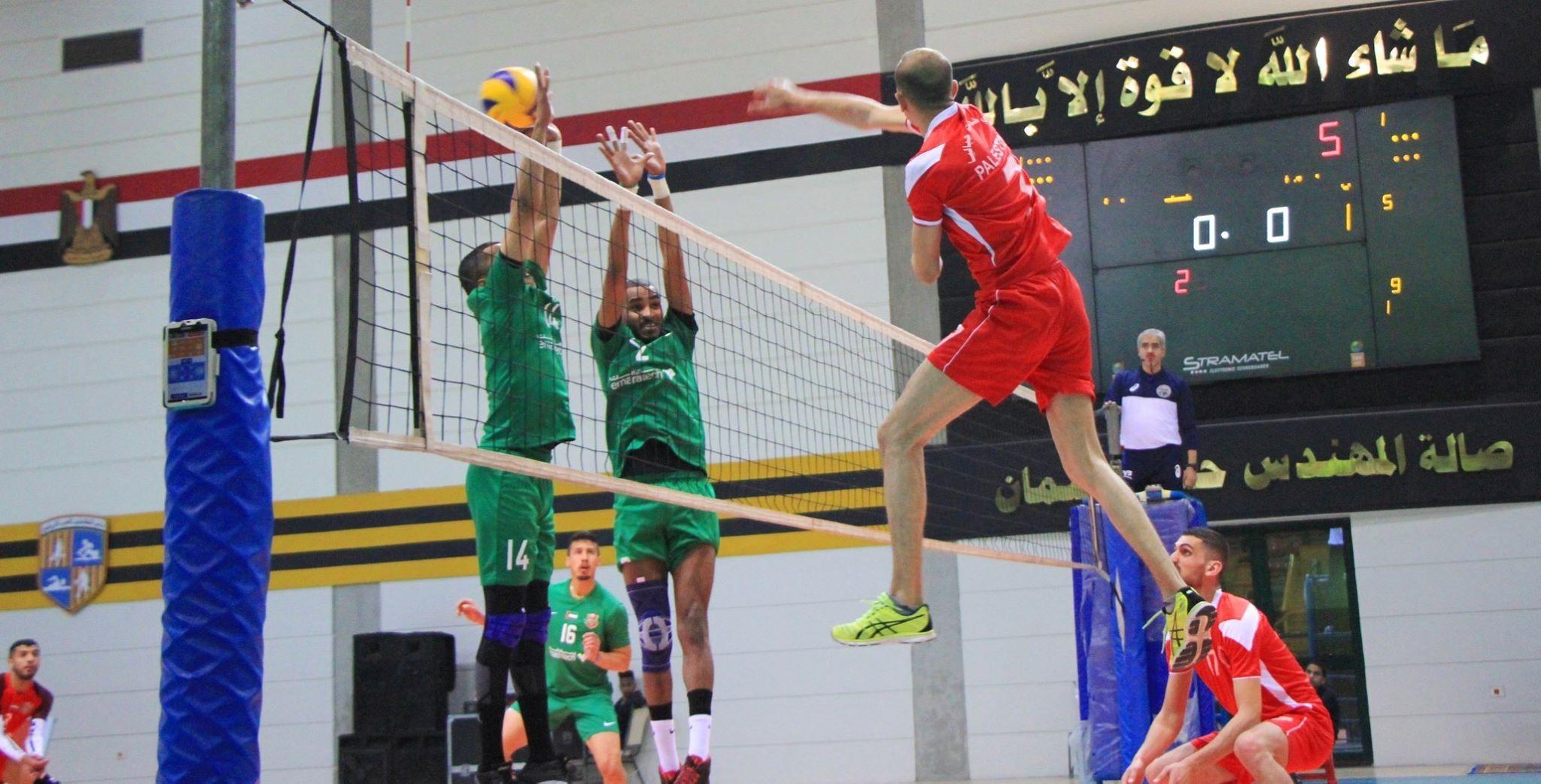 خدمات جباليا يخسر أول لقاءاته في البطولة العربية لكرة الطائرة
