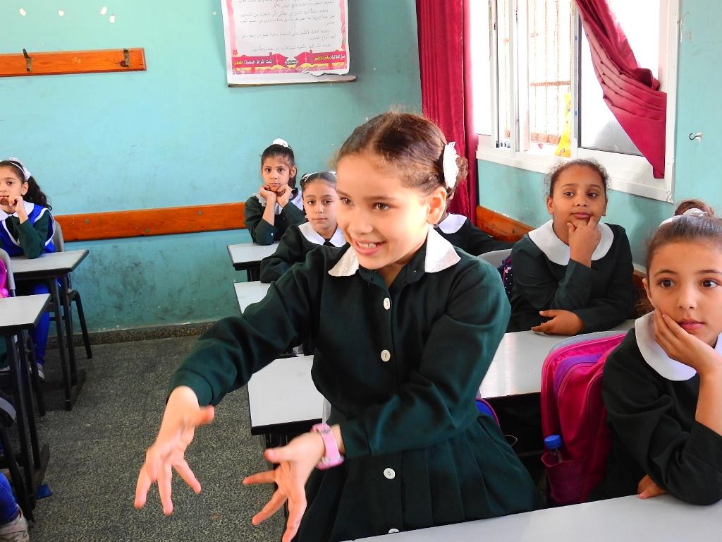تنظيم محاضرات توعوية لطلبة مدرسة أم القرى الأساسية بغزة