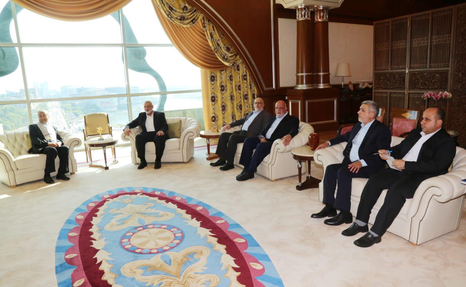 هنية وقيادة حماس تلتقي رئيس وزراء ماليزيا