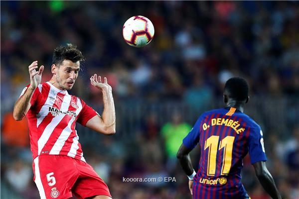 جيرونا يوقف سلسلة انتصارات برشلونة بتعادل مثير