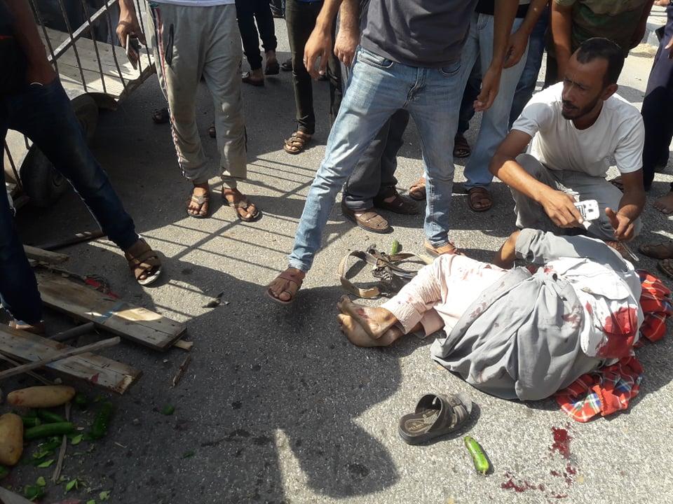 إصابات بانقلاب مركبة وسط قطاع غزة