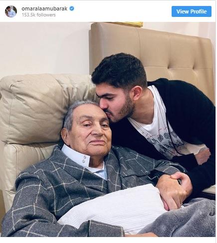 آخر ظهور للرئيس المصري حسني مبارك (صورة)