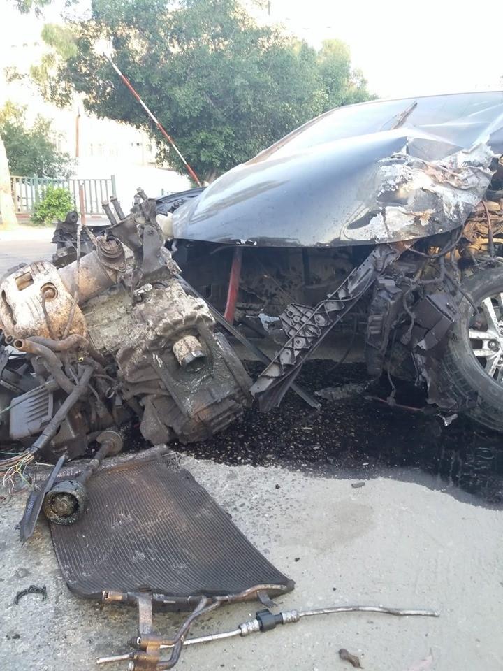 10 إصابات وأضرار جسيمة بحادث مروري في مدينة غزة