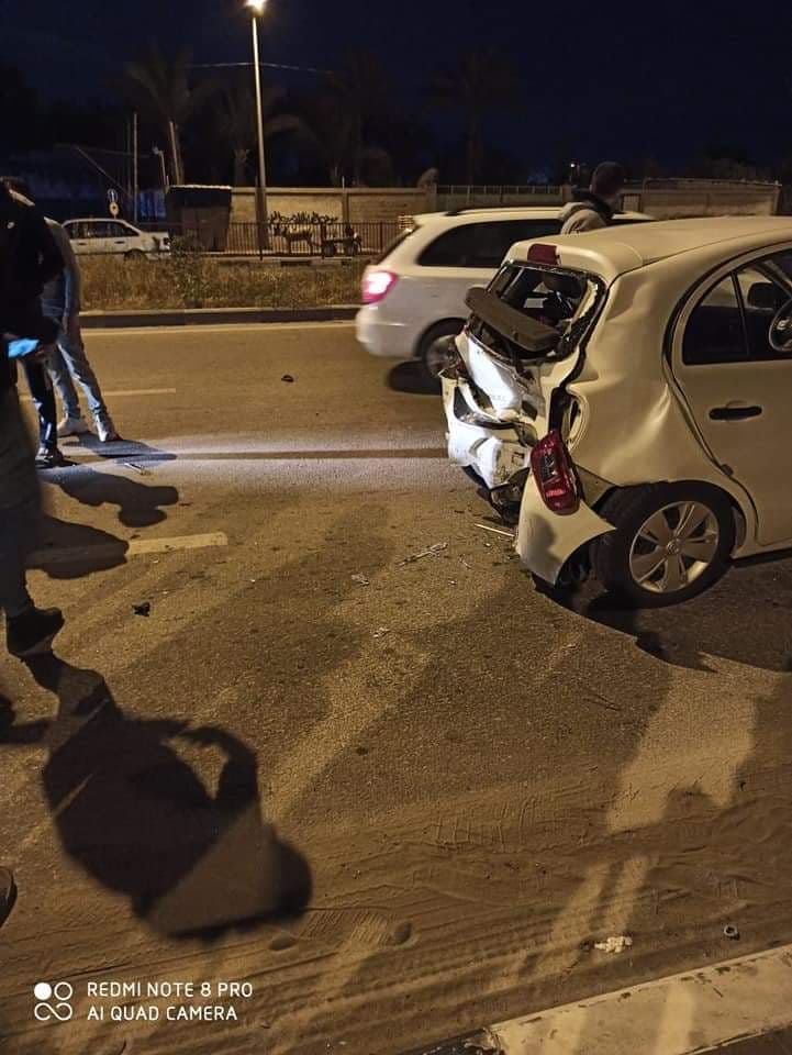 ثلاث إصابات إحداها خطيرة بحادث سير شرق غزة