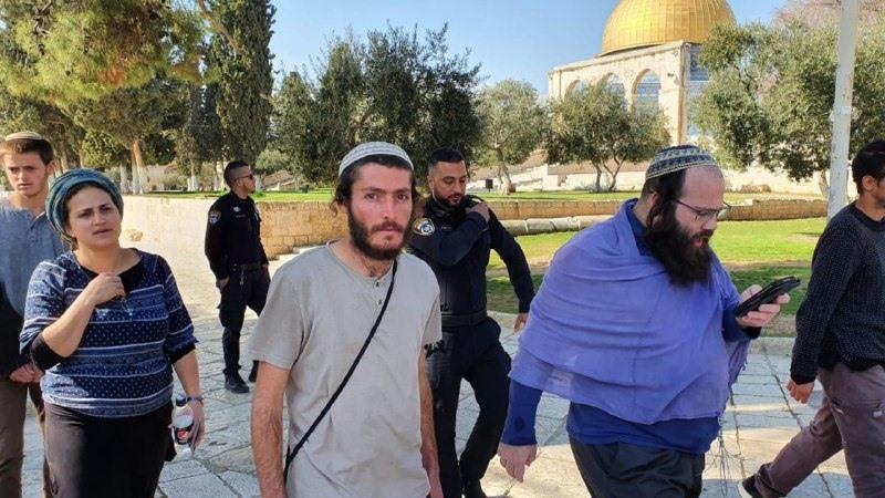 """343 مستوطن """"اقتحموا"""" باحات المسجد الأقصى هذا الأسبوع"""