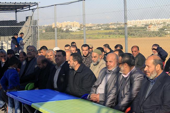افتتاح ملعب الشهيد أنيس أبو شمالة بالبريج