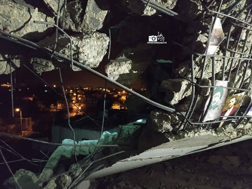 الاحتلال يهدم منزل الشهيد البرغوثي برام الله