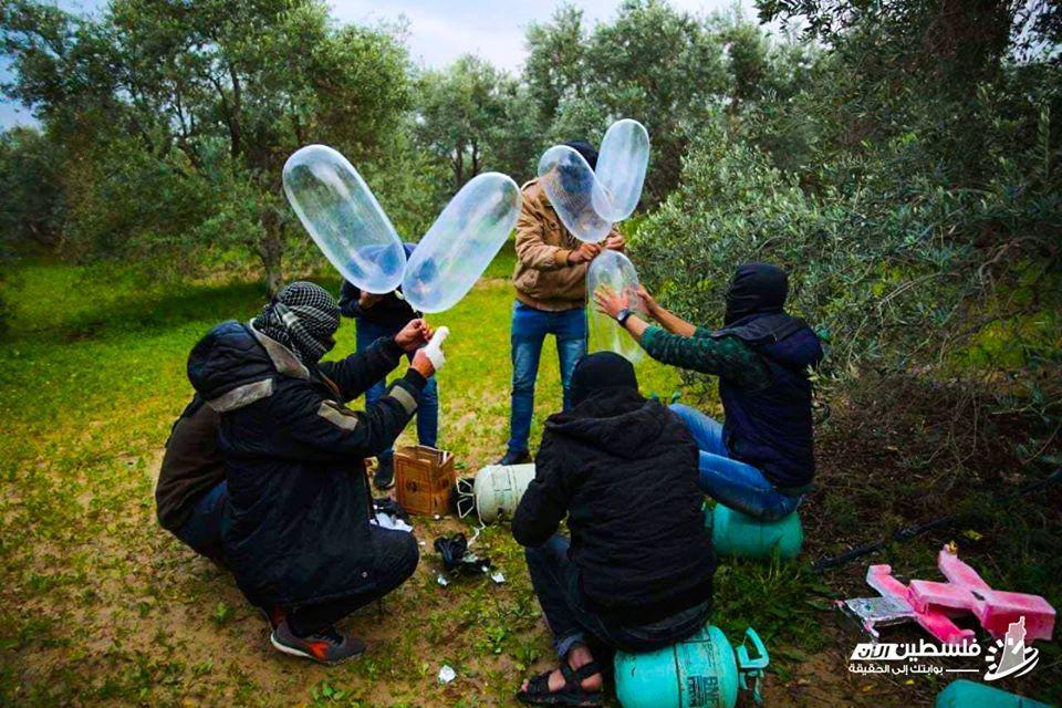 """مُطلقو البالونات الحارقة يستأنفون هجومهم على """"إسرائيل"""""""