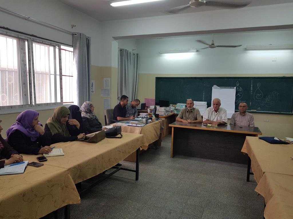 مدير التعليم يجتمع بالمشرفين التربويين في شمال غزة