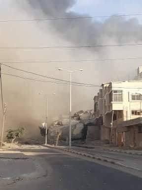 18 إصابة بقصف إسرائيلي على مؤسسة ثقافية بغزة
