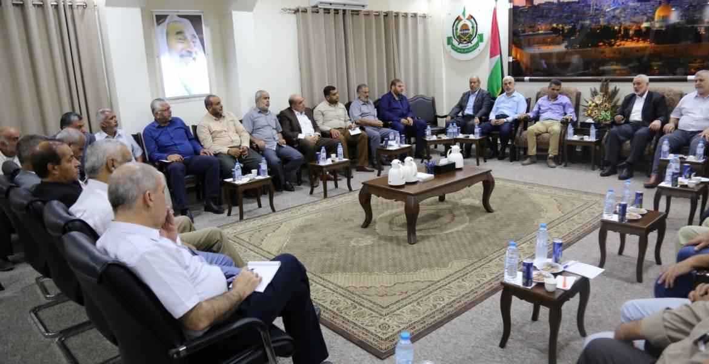 """تفاصيل لقاء قيادة """"حماس"""" بالوفد المصري"""