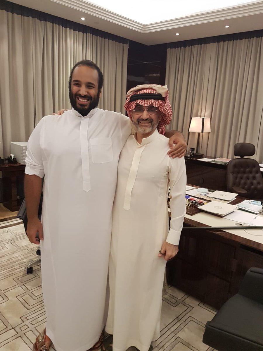 الوليد بن طلال ينشر صورة مع محمد بن سلمان، ماذا كتب؟