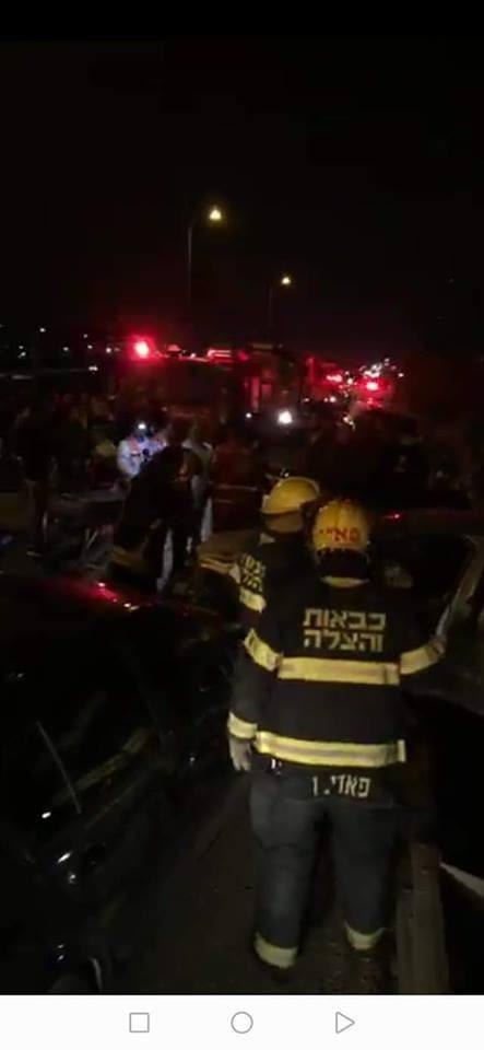 10 إصابات في حادث سير شرق قلقيلية