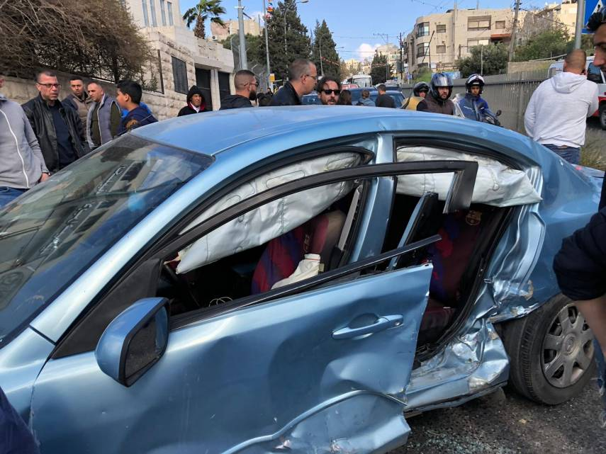 5 إصابات بحادث سير في القدس