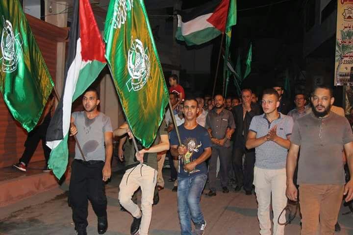 مسيرة حاشدة لحماس نصرة للمسجد الأقصى بلبنان