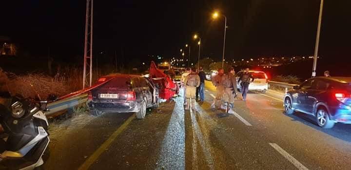 وفاة 4 مواطنين في حادث سيرٍ شرق الخليل