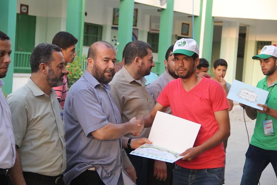حماس تختتم المرحلة الأولى من مخيمات للقدس ماضون بالمغازي
