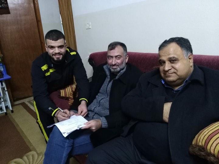 حسام دوفش يجدد الولاء لأهلي الخليل