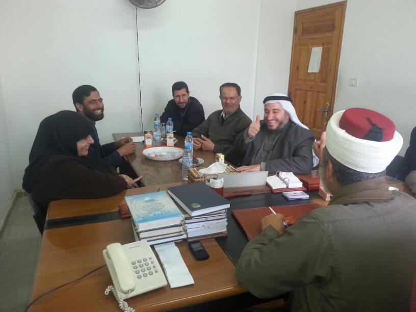 نواب شمال غزة يتفقدون محكمة شمال غزة الشرعية