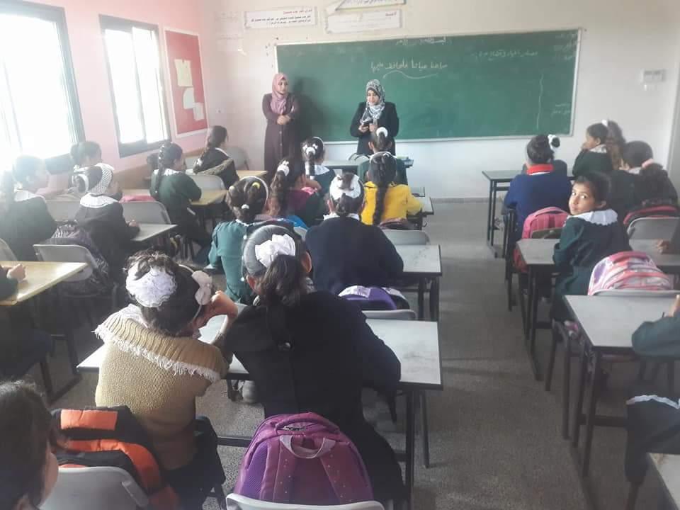 إطلاق حملة التوعية البيئية في مدارس الزوايدة