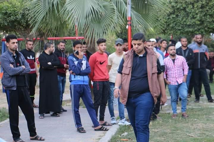 """""""البريج موحد"""" ينظم إفطارا جماعيا لأهالي المخيم"""