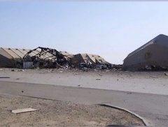 حجم الدمار الذي لحق بقاعدة عين الأسد جراء القصف الإيراني