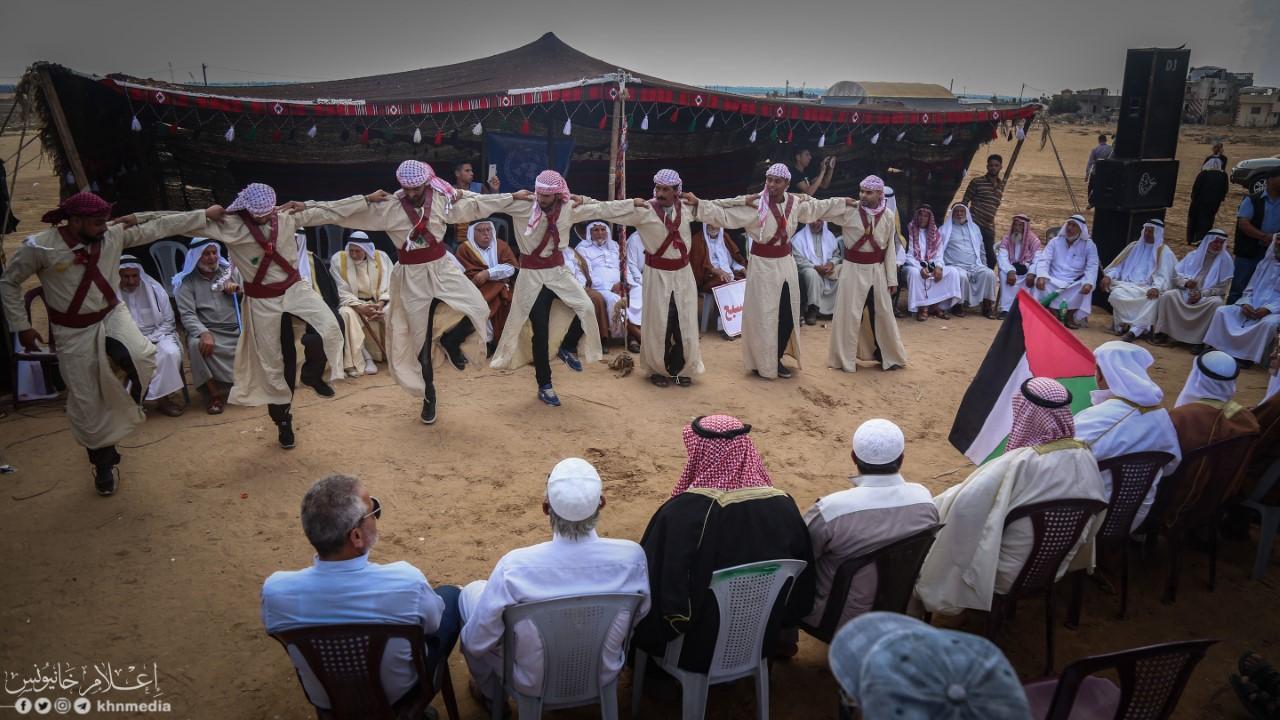 تنظيم فعالية إحياء التراث الفلسطيني شرق خانيونس