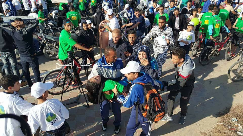 23 إصابة على الأقل بانهيار رافعة حديدية غرب غزة