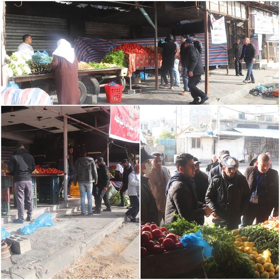 بلدية النصيرات تلغي سوق الإثنين الشعبي