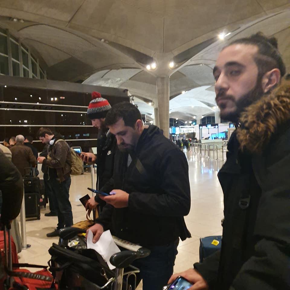 وطني السلة يصل اسطنبول ووصول سني وديراوي