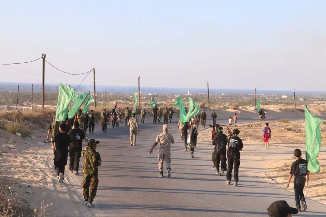 مسير عسكري لطلائع التحرير غرب خانيونس