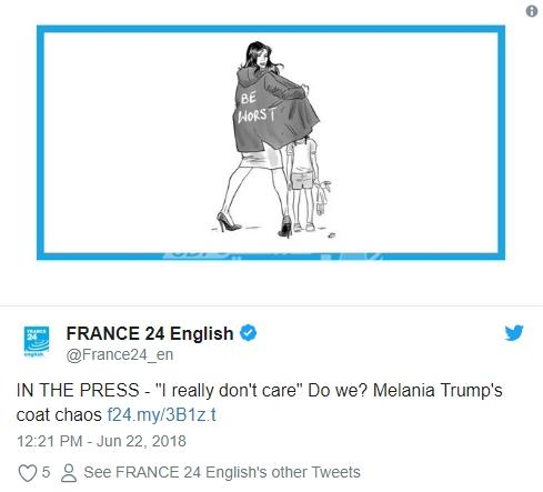 عبارة على معطف زوجة ترامب تثير جدلاً واسعاً